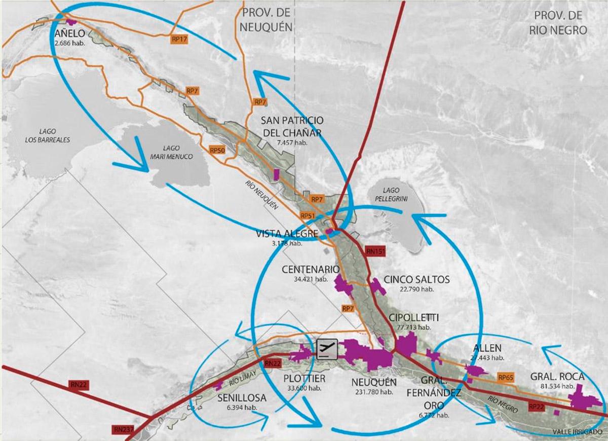 Fuente: Diagnostico Prospectivo del Área Metropolitana Neuquén – Cipolletti. Año 2015. DAMI. Préstamo BID 2499 OC/AR